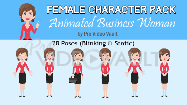 Female Character Pack 1 (Animated)