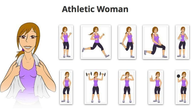 Athletic-Woman-SVG-Preview
