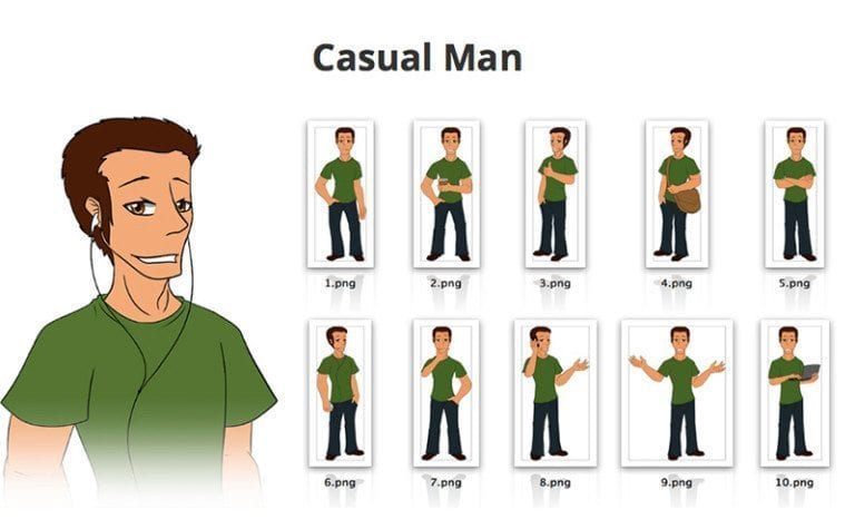 Casual-Man-SVG-Preview