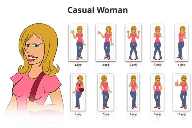 Casual-Woman-SVG-Preview